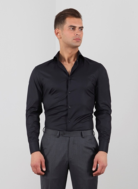 Ramsey Klasik Gömlek Siyah